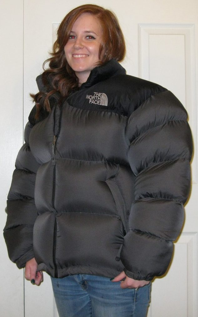 Gray Black Large Nuptse Finished Sold Wasatch Down