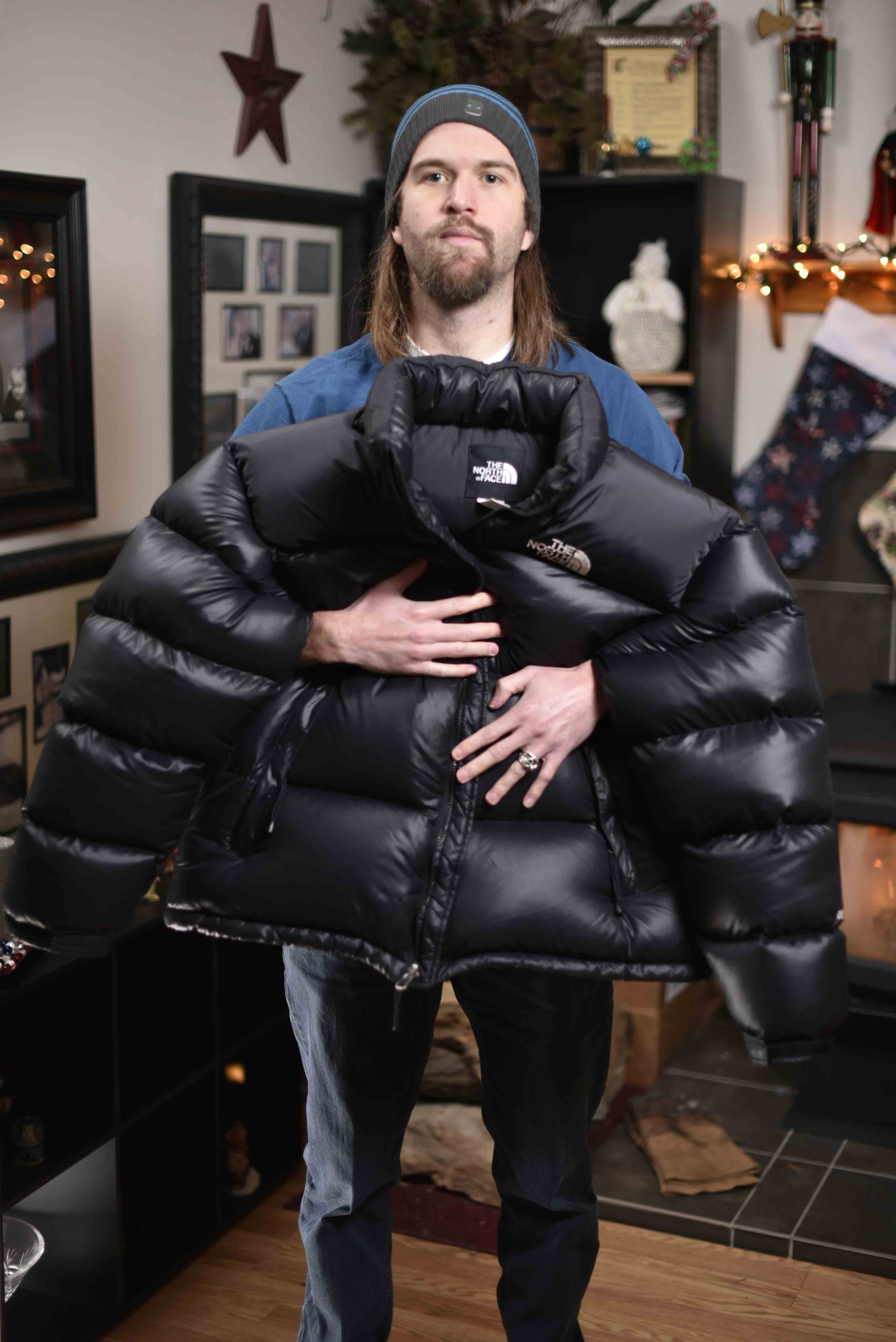 Half of the jackets are already gone here is what is still available Nuptse  Shiny Black XL Center logo – 1.625 pounds of overfill  557… ed3fe6d3b